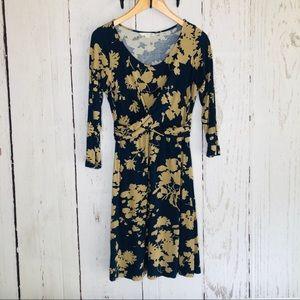 Boden Jersey Viscose Knit Wrap Front Floral Dress